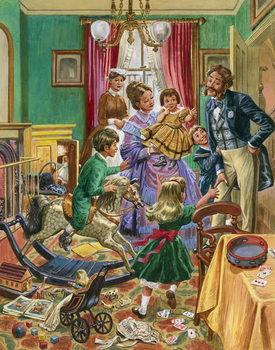Reprodução do quadro Victorian nursery