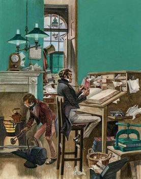 Reprodução do quadro Victorian office