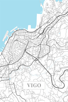 Map Vigo white