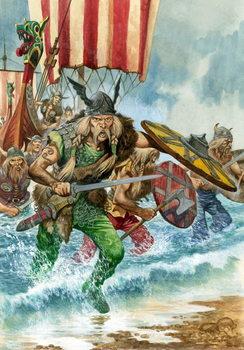 Reprodução do quadro Vikings