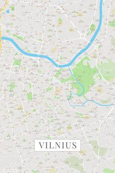 Mapa Vilnius color