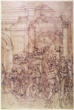 Fine Art Print W.29 Sketch of a crowd for a classical scene