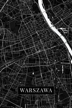Map Warszawa black