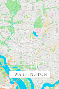 Map Washington color