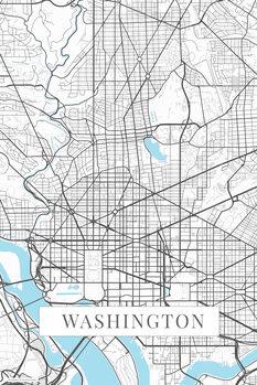 Map Washington white