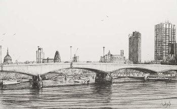 Fine Art Print Waterloo Bridge London, 2006,