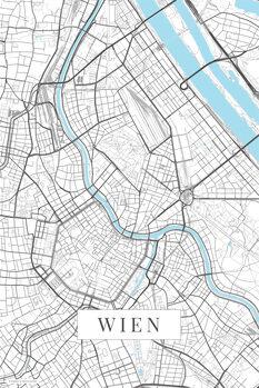Map Wien white