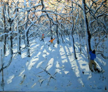Fine Art Print Winter woodland, near Newhaven, Derbyshire