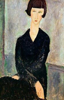 Fine Art Print Woman in Black Dress