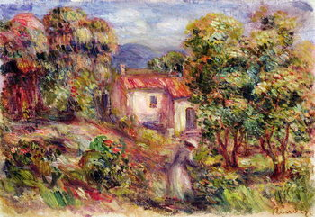 Fine Art Print Woman picking Flowers in the Garden of Les Colettes at Cagnes