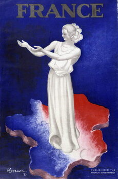 Taidejuliste Woman representing France