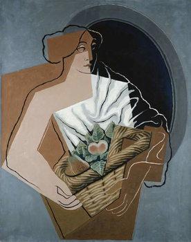 Fine Art Print Woman with Basket