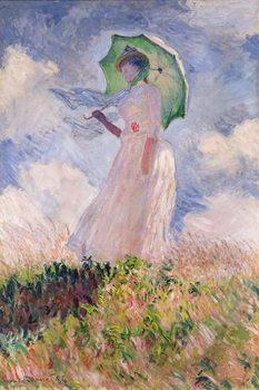 Reprodução do quadro Woman with Parasol turned to the Left, 1886