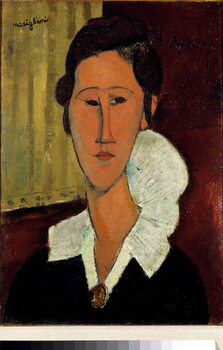 Fine Art Print Woman with the collar or portrait of Anna Zborowska .