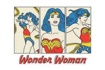Impressão de arte Wonder Woman- Comics