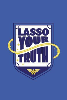 Art Poster Wonder Woman - Lasso your truth