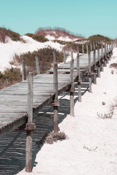 Art Photography Wooden Pier on the Beach