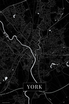 Map York black