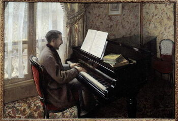 Fine Art Print Young man playing piano.