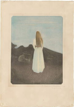 Fine Art Print Young Woman on the Beach