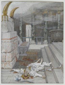 Reprodução do quadro Zacharias Killed Between the Temple and the Altar