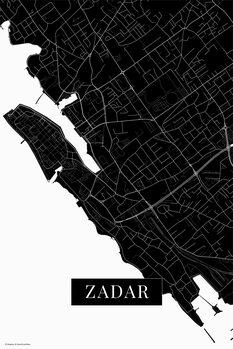 Map Zadar black