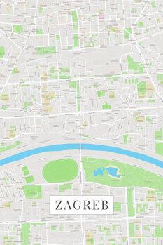 Map Zagreb color