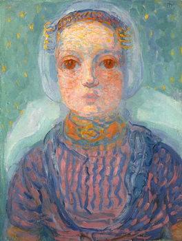 Fine Art Print Zeeland Little Girl; Zeeuws Meisje, 1909-1910