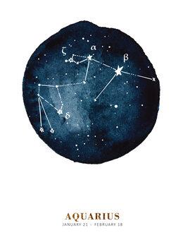 Illustration Zodiac - Aquarius