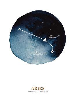 Ilustração Zodiac - Aries
