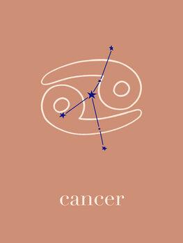 Illustration Zodiac - Cancer - Terracotta