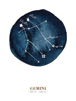 Illustration Zodiac - Gemini