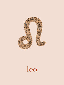 Illustration Zodiac - Leo - Floral Blush