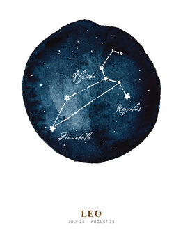 Illustration Zodiac - Leo