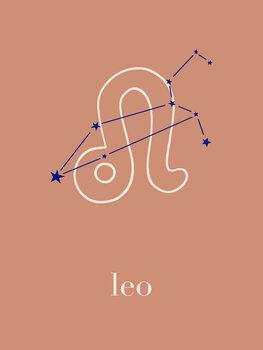 Illustration Zodiac - Leo - Terracotta