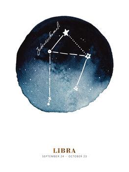 Illustration Zodiac - Libra