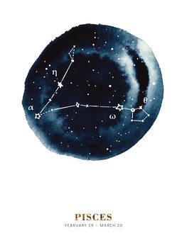 Illustration Zodiac - Pisces