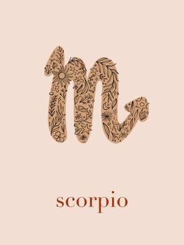 Illustration Zodiac - Scorpio - Floral Blush