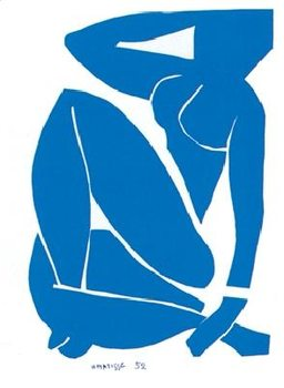 Impressão artística Blue Nude III, 1952