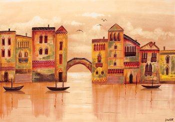Impressão artística Brown Venice