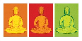 Impressão artística Buddha - Pop Art