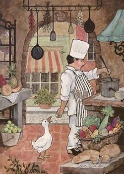 Impressão artística Chef With Goose