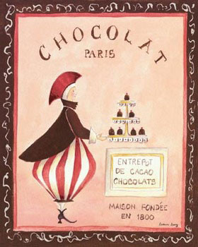 Impressão artística Chocolat, Paris