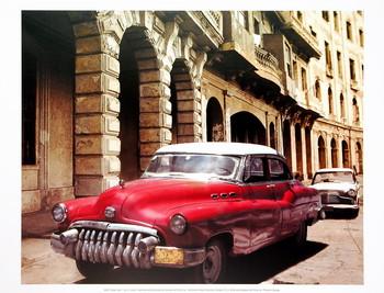 Impressão artística Cuban Cars I