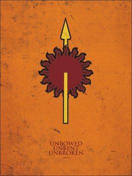 Impressão artística Game of Thrones - Martell