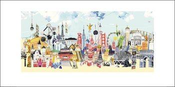 Impressão artística Hennie Haworth - China London