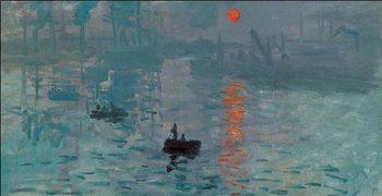 Impressão artística Impression, Sunrise - Impression, soleil levant, 1872 (part)