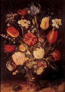 Impressão artística Jan Brueghel the Younger - Vase with Flowers