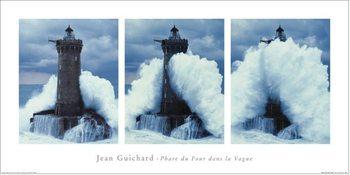 Impressão artística Jean Guichard - Phare Du Four, Bretagne Triptych