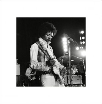 Impressão artística Jimi Hendrix - Live
